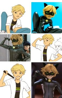 Adrien in chatnoir position