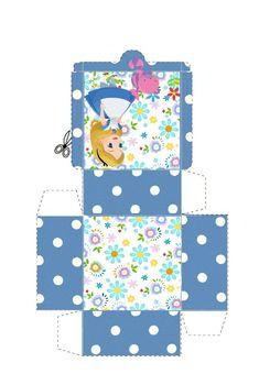 Alice In Wonderland Printables, Alice In Wonderland Birthday, School Labels, Paper Crafts, Diy Crafts, Minis, Tea Party, Treat Box, Gift Boxes
