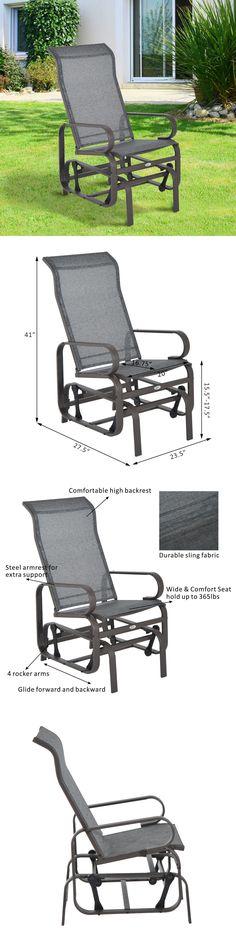 Benches 79678: Patio Porch Glider Bench Swing Sling Chair Rocker Mesh Outdoor  Garden Furniture