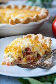 This savory Southern Tomato Pie is made with summer-ripe tomatoes, fresh basil leaves, and topped with a tasty cheese & mayo topping! Southern Tomato Pie I wish I could hand you a slice of this Vegetable Dishes, Vegetable Recipes, Vegetarian Recipes, Cooking Recipes, Entree Recipes, Pie Recipes, Tomato Dishes, Vegetable Pie, Recipes Dinner