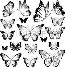 трафареты бабочек для декора стен - Поиск в Google