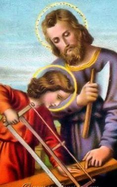 Juntos, JESÚS Y JOSÉ, bendicen a todos los obreros,, en su día