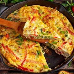 Healthy Dishes, Tasty Dishes, Healthy Recipes, Florentines Recipe, Frittata Recipes, Greek Recipes, Meals For One, Food Network Recipes, Feta