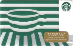 Green Illusion Starbuck Card - Closer Look! Starbucks Rewards, Starbucks Gift Card, Starbucks Coffee, Member Card, All Gifts, Illusions, Christmas Holidays, North America, Seasons