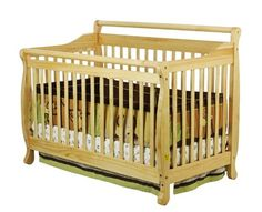$199.95-$249.00 Baby Finish:Natural  This lovely piece of nursery furniture grows with your child converting easily into a toddler bed, a daybed and to a full size bed (full size head and footboards)  Constructed of solid pine wood and has a beautiful non-toxic finish  3 position adjustable mattress support  Tools for assembly included  JPMA Certified  Note: Crib mattress sold separately