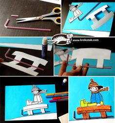 Winter collage with straws Winter Activities For Kids, Winter Kids, Christmas Crafts For Kids, Sport Themed Crafts, Theme Sport, Winter Thema, Baby Quiet Book, New Year's Crafts, Sport Craft