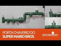 Hoje Temos SUPER MARIO BROS, quem nunca jogou super Mario não teve infância kkk, venha conosco aprender esse incrível e fácil porta chaveiro feito com canos ...