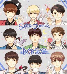Super Junior Magic (FANART) They Are Look So Cute ^_^ I LIKE IT :D