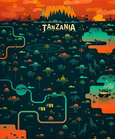 Brilliant, Colorful Landscape Illustrations Of Cosmopolitan Cities & Landmarks - DesignTAXI.com