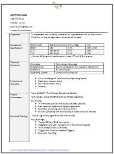 professional curriculum vitae resume template for all job seekers sample template of an excellent fresher - Sample Professional Resumes