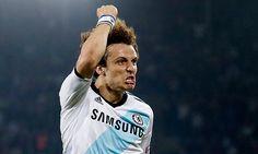 David Luiz celebrating his goal against Basel 2-5-13