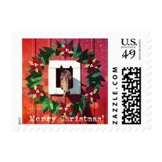Horse Merry Christmas $.49 Postage Stamps Sm (20)