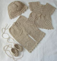 Crochet Linen Set for Baby Girl and Baby Boy Perfect por Dachuks