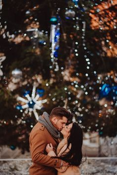 Engagement session of Aleksandra & Artur.  Session in the atmosphere of christmas Cracow. Wow!