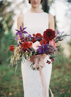 Gorgeous fall berry hued bouquet