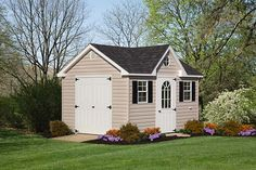 With its distinctive styling, the Dormer shed turns an ordinary structure into something quite extraordinary. The dormer shed is great as a garden shed, but also perfect as a backyard studio, or workshop! Vinyl Storage Sheds, Vinyl Sheds, Shed Storage, Built In Storage, Art Shed, Custom Sheds, Siding Options, Studio Shed, Backyard Studio