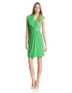Ellen Tracy Women's Cap Sleeve V-Neck Side Gather Dress, Green, 2 Ellen Tracy,http://www.amazon.com/dp/B00HD6POBE/ref=cm_sw_r_pi_dp_Tindtb1SXATNFG1H