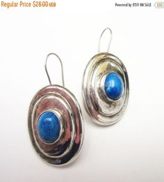 Sterling Blue Chalcedony Dangle EArrings by serendipitytreasure