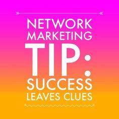 Success leaves clues! #networkmarketingtips #success #mlm #networkmarketing #goals #recruiting #kathleendeggelman #leader #networkmarketingleader
