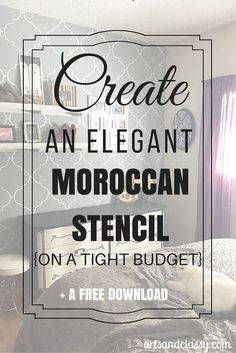 Makeover Edition How to Paint a Moroccan Stencil Accent Wall