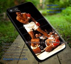 Boxer, Muhammad Ali, Boxing, Sport, On Ring, Winner, case/cover for iPhone 4/4s/5/5c/6/6 /6s/6s  Samsung Galaxy S4/S5/S6/Edge/Edge  NOTE 3/4/5 #sport ii