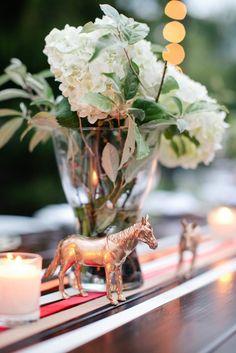 Gold Farm Animal Figures for Horse Farm Wedding | Photography by Marta Locklear