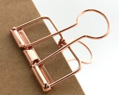 Gold Planner Clips Binder Accessories Bull Clips Skeleton