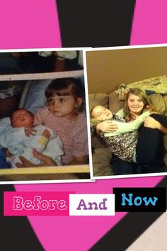 Me and my sister - before and now