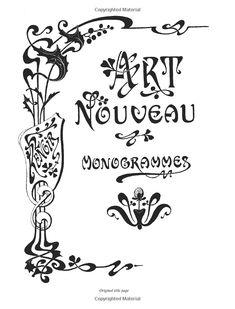 Art nouveau lettering - love art nouveau!