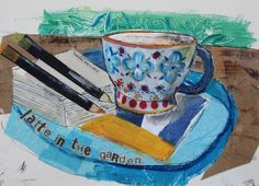 Latte in the garden by Tracey English www.tracey-english.blogspot.co.uk