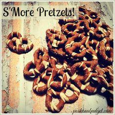 YES! S'MORE PRETZELS! @poshonabudget http://poshonabudget.com/2015/09/yes-smore-pretzels.html