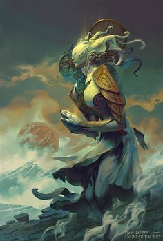 """""""Angels And Demons"""": The Superb Digital Concept Art Of Peter Mohrbacher Anime Art Fantasy, Dark Fantasy Art, Fantasy World, Ange Demon, Angels And Demons, Angel Art, Gods And Goddesses, Mythical Creatures, Fantasy Characters"""