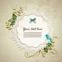Vintage Lace Floral Vector Background - http://www.dawnbrushes.com/vintage-lace-floral-vector-background/