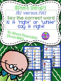 Pre-vocalic Initial /r/ articulation activity.  /r/ versus /w/ Say the correct word when presented w/ a /r/ or /w/ word. Contrastive Minimal pairs.