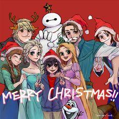 Walt Disney's 3D animated films saying Merry Christmas