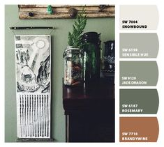 Paint colors from ColorSnap by Sherwin-Williams Exterior Paint Colors For House, Kitchen Paint Colors, Exterior Colors, Grey Palette, Design Palette, Paint Color Schemes, Sherwin William Paint, Floor Colors, Library Design