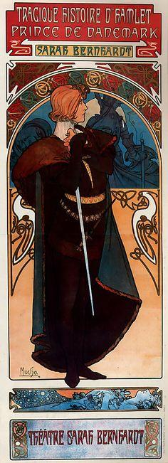 Alphonse Maria Mucha (1860-1939) Hamlet Lithograph