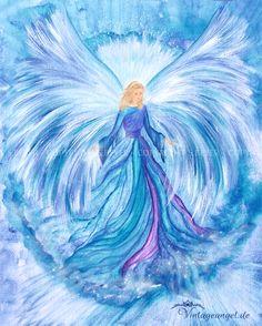 Erzengel Haniel ~ღ~ Engelbild Angel Images, Angel Pictures, Foto Poster, Angel Drawing, I Believe In Angels, Prophetic Art, Wow Art, Angel Art, Pictures To Paint