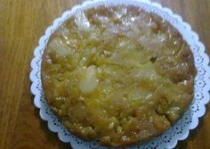 Tarta invertida de pera y manzana