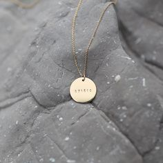 The day that everything changed. Remember it with this bold disc pendant. Available in a standard or roman numeral format. Featuring a tiny version of our favorite font. Use this Roman Numeral Da Gold Disc Necklace, Key Pendant, Diamond Pendant Necklace, Simple Necklace, Gold Necklaces, Pretty Necklaces, Initial Pendant, Diamond Necklaces, Necklace Chain