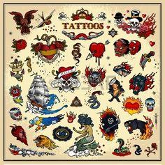 tatuajes Foto de archivo