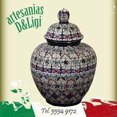 Jarrón de Talavera #Artesanía #color #hechoenmexico #decoración  #hogar #mx #cdmx #arte #talavera #jarón #colores