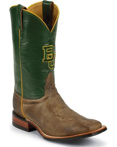 Men's Baylor BU square toe cowboy boots