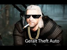 Crazy antics while on the run from the guards in Witcher 3 in GTA (Geralt Theft Auto) style