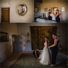 Anna the bride getting ready for her Chateau de Brametourte wedding by Wild Connections Photography Anna, Bride Getting Ready, French Wedding, Bridesmaid Dresses, Wedding Dresses, Destination Wedding, Wedding Inspiration, Photography, Beautiful