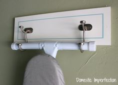 30 Clever Home Organization Tips And Tricks - This would be great for the back of a door in a laundry room.