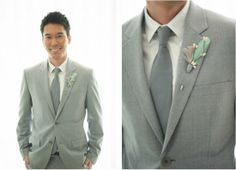 Pomp & Plumage EMERSON Boutonniere on The Wedding Cafe | Hawaii's Wedding Resource Center