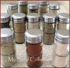 Sand Collection for every beach visited.