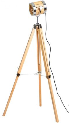 In the beginning, there was light and from that modern floor lamps were created to soothe that need. In your living room decor, there's always a Diy Floor Lamp, Modern Floor Lamps, Diy Tripod, Wooden Lamp, Diy Furniture Projects, Lamp Design, Living Room Decor, Flooring, Decoration