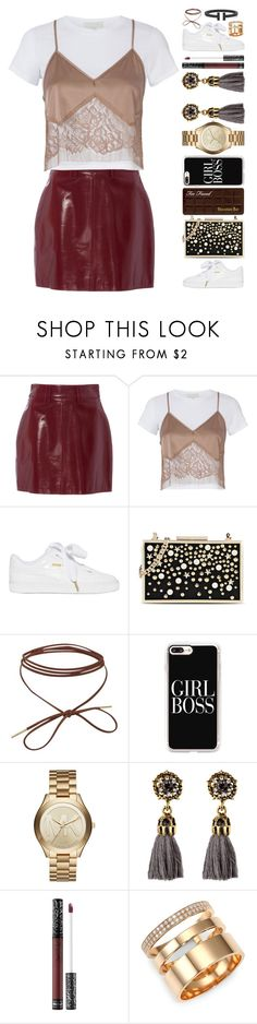 """""""22 janvier"""" by elyblog ❤ liked on Polyvore featuring Michelle Mason, Puma, Karl Lagerfeld, Casetify, Michael Kors, Kat Von D and Repossi"""